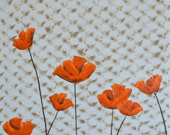 SALE Orange Blanket Poppies Original Painting