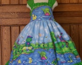 Infant and Girls Frog Ruffled Sundress
