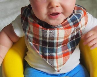 Bandana Baby Bib | Bandana Toddler Bib | Drool Bib | Baby Boy Bib
