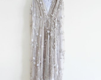 AURELIA - lilac floral draped mesh