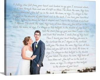 Personalized Handmade Wedding Registry Gift or Engagement, Anniversary, Just Married Photo 40X40