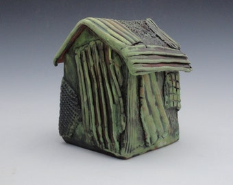 Meditation Prayer House Ceramic Sculpture Textured Handmade  My second Home