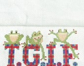 TGIF Completed Cross Stitch