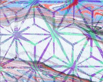 "Life Matrix Ebru Art 5""x7"" Giclee Print"