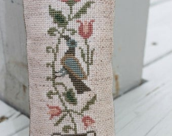 Primitive Cupboard Tuck Bird & Flowers Made to Order