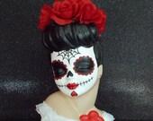 Dia de los Muertos, Day of the Dead Custom Painted Head Vase