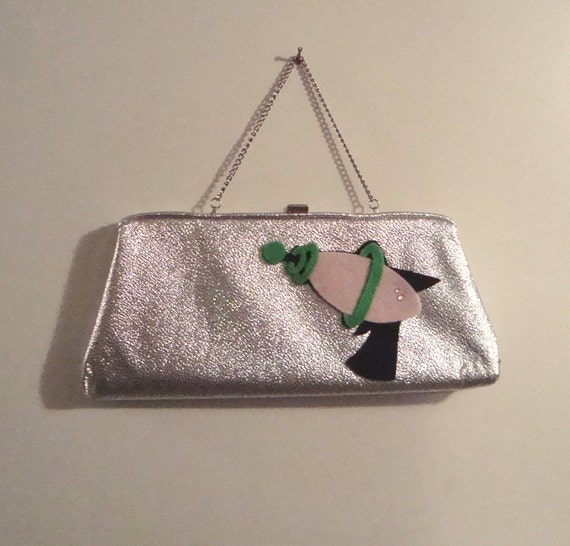 Space Girl Atomic Ray Gun Purse ~ Silver Sci Fi Clutch