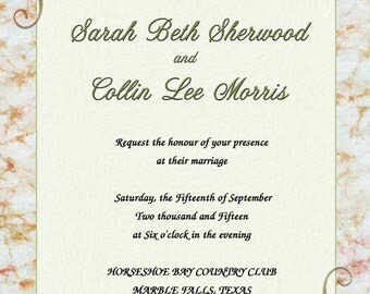 Wedding Invitations- Wedding Rings