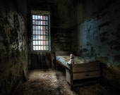 Old Room with Bed, Abandoned Building, Mysterious, Doll, Urbex, Asylum, Color Photography, Signed Print