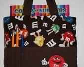 Crayon Tote Bag, Tote Bag, Crayon Holder, M&M's Crayon Bag, Red M+M,  Ready to Ship
