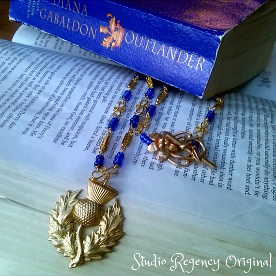 Outlander Necklace - Diana Gabaldon Inspired - Outlander Jewelry - Outlander Theme Necklace - Thistle Necklace - Scotland Necklace