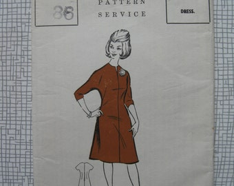 "1960s Dress - 36"" Bust - The People 946 Sewing Pattern"