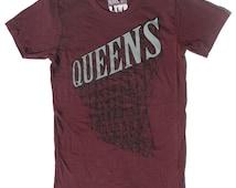 Women's Queens NY Tshirt  in Maroon