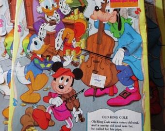 1980s Golden Walt Disney Uncle Scrooge Nursery Rhyme Jigsaw Puzzle - Old King Cole - Compelete