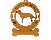 1374 Australian Kelpie Standing Personalized Dog Ornament