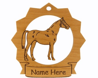 Anglo Norman Horse Wood Ornament 088025 Personalized With Your Horse's Name