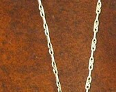 """Vintage Sterling Silver """"Gothic"""" Twisted Link Necklace"""