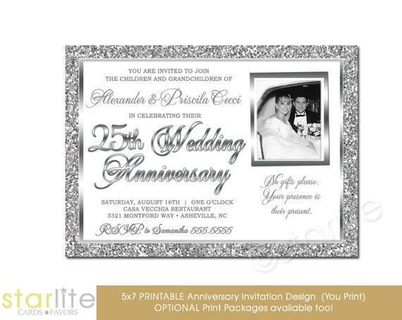 25th Wedding Invitations: 25th Wedding Anniversary Invitation Photo Invitation By