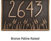 Wheat Field Address Plaque Craftsman Bungalow Style Choose Finish 12x8 inches