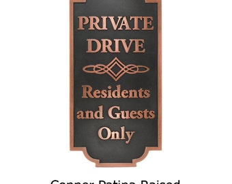 Home Owners Association Prive Drive HOA Sign 12W x 24H inches Custom for you by Atlas Signs and Plaques