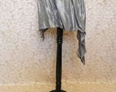 "20 DOLLAR SALE Gunmetal Silver Asymmetric Simple Corset Skirt-To Fit Up To A 40"" Waist"