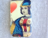 Queen of Hearts Pill Box, Slider Tin, Mint Tin, vintage style