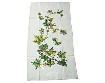 Vintage Towel Fab Fall Leaves MWT