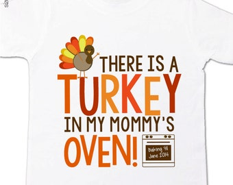thanksgiving big brother to be shirt- turkey in mommy's oven big brother pregnancy announcement