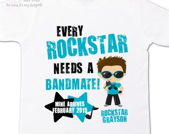 Rockstar big brother shirt bandmate pregnancy announcement Tshirt