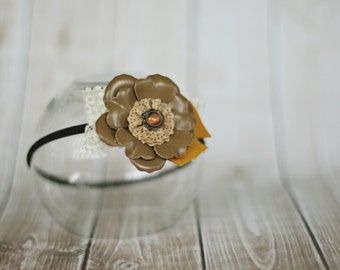 baby and toddler headband // baby girl photo prop // toddler photo prop // headband  // fall // birthday // flower // ready to ship