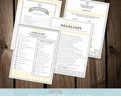 """Baby Shower GAME PACKAGE of 4 games - Set 2 - Mommy to """"Bee"""" Baby Shower modern pattern shower set - Printable DIY Digital File"""