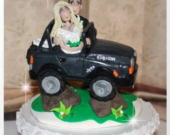 Sprint Car Wedding Cake Toppers