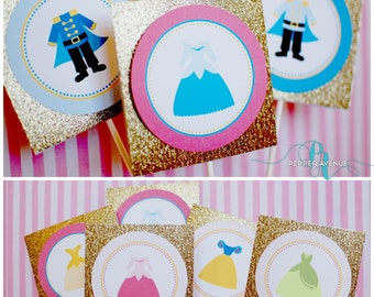 Fancy Nancy Inspired Cupcake Toppers Fancy Nancy Party Ages