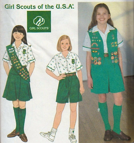 girl scout uniform sewing pattern girl scouts of the usa