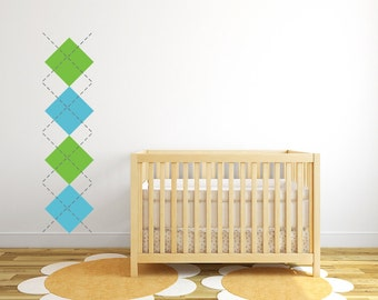 Argyle nursery wall decal, - Medium  DB300