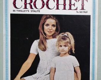 Vintage Crochet Pattern 1960s 1970s Barbara Warner Couture Crochet Girls Women's Dress Lacy Summer Childs Dress 60s 70s UK original pattern