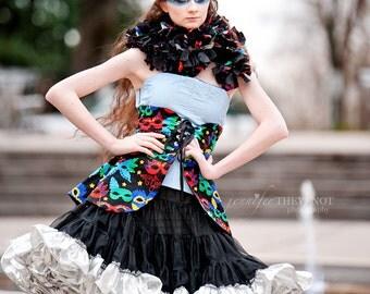 Mardi Gras Costume, Mardi Gras Clothing, Women's Costume, Sequin Costume, Sparkle Costume, Mardi Gras Mask Skirt