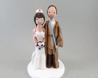 Cake Topper Personalized Nurse & Spiritual Doctor Wedding