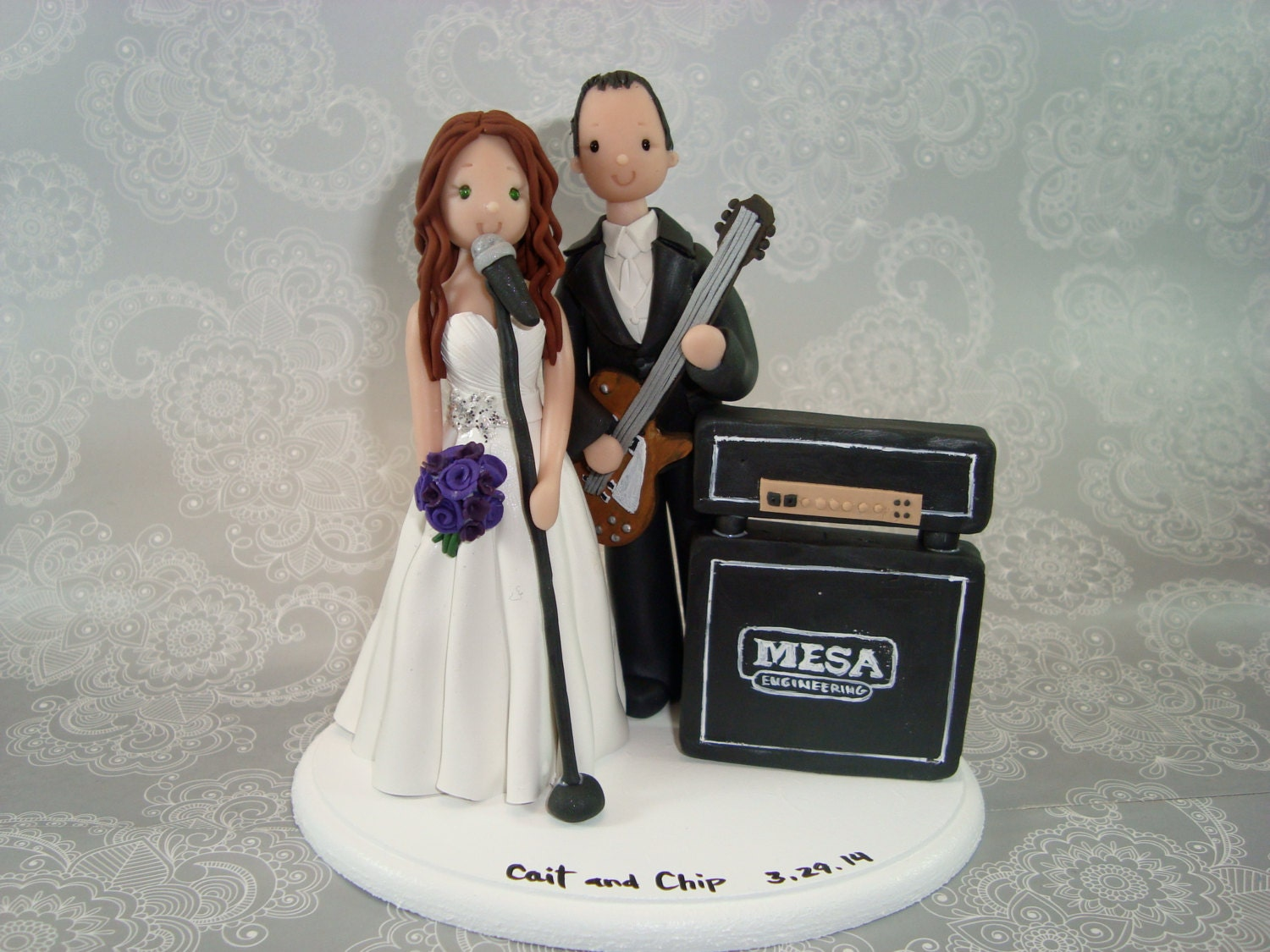 musical wedding cake toppers custom handmade amp groom theme wedding cake topper 17665