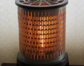 Through a Screen, Sparkly - converted heater lamp  - Free shipping within U.S.