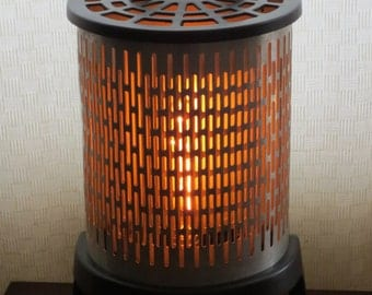 Through a Screen, Sparkly - converted heater lamp