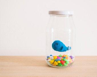 Mini Whale knitted amigurumi home decor ornament