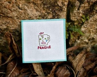 Fragile Crying Mug Needlepoint