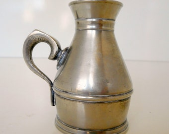 Pewter Cream Pitcher Signed Vintage Pewter Creamer Industrial
