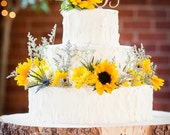 "THE 20"" STUMP Rustic Wood Tree Slice Wedding Cake Base or Newborn Photo Prop"