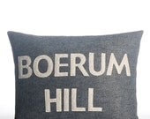 """Boerum Hill -  recycled felt applique pillow 14"""" x 18"""" - more colors available"""