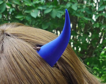 Cobalt Blue Devil Horns Costume Accessory