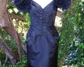 Designer Dress Black Party Drama by Tadashi / I MAGNIN size S