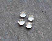 4mm Silver Bezel Cups | FOUR Round Bezel Cups for 4mm Cabochons | 925 Bezel Cups | Solid Back Bezel Cups | 4mm Round 925 Bezel Cups