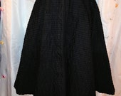 SALE Vintage 1950s Black Pleated Skirt Poodle Skirt